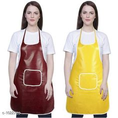 Aprons Classic Aprons ( Pack Of 2)  *Material * Apron - PVC  *Size (L x W)* Apron - 18  in x 28 in  *Description* It Has 2 Piece Of Kitchen Apron  *Pattern* Solid  *Sizes Available* Free Size *   Catalog Rating: ★4.2 (216)  Catalog Name: Hiba Lovely Aprons Combo Vol 1 CatalogID_123448 C129-SC1633 Code: 142-1022769-