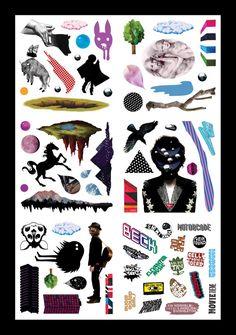 Sticker sheet - The 20 image-makers who contributed to the project are:Jody Barton, Juliette Cezzar, Estelle & Simon, David Foldvari, Genevieve Gauckler, Michael Gillette, Jasper Goodall, Mercedes Helnwein, Han Lee, Mat Maitland, Ari Michelson, Parra, Melanie Pullen, Gay Ribisi, Aleksey Shirokov, Will Sweeney, Kam Tang, Adam Tullie, Kensei Yabuno, Vania Zouravliov