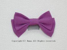 リボン髪飾りショート 若紫  #髪飾り #リボン #はいからさん #袴 #卒業式 #卒園式 #紫 #シンプル #コーム