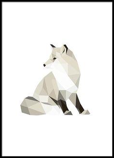 Mooie grafische poster met veelhoek patroon