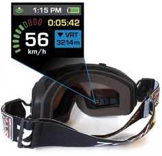 This high tech product will go into your ski goggles and display live information such as: speed, altitude, navigation, and location