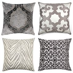gray pillows from z gallerie