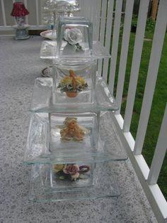 Precious Petals Flower Tower, Terrarium, Glass Art, Patio, Garden, Pretty, Flowers, Home Decor, Homemade Home Decor