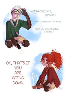Okay I love Jack in Slytherin and Merida in Gryffindor. But this works so well with my ship on Scorpius and Rose Can either be Scorpius/Rose or Jack/Merida Harry Potter Fan Art, Harry Potter Memes, Scorpius And Rose, Rose And Scorpius Fanfiction, Scorpius Malfoy, Draco Malfoy, Just For Gags, Harry Potter Next Generation, Desenhos Harry Potter