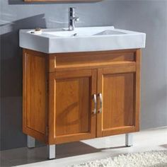 "Check out the Legion Furniture WA3131 31-1/2"" Solid Wood Single Sink Vanity in Medium Maple - Vanity Top Included priced at $493.50 at Homeclick.com."