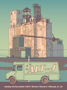 Something about this grabbed me. Lovely textures perhaps. It ranks above the usual trappings that this sort of style has to offer. Really cool. GigPosters.com - Alt-j