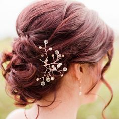 Rose gold and blush bridal hairpiece with pearls and crystals by J'Adorn Designs Hippie Bride, Nature Inspired Wedding, Bridal Hairpiece, Bohemian Wedding Inspiration, Blush Bridal, Hair Pieces, Bridal Style, Bridal Jewelry, Hair Accessories