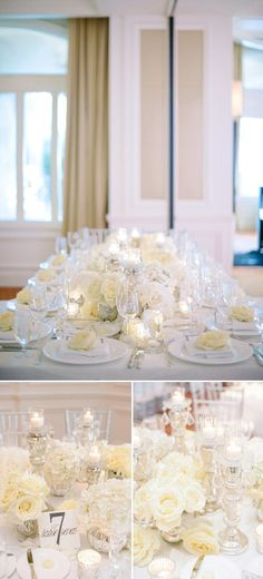 Such glamorous, gorgeous table decor for this Ritz-Carlton Palm Beach wedding! Photos by Shea Christine Photography via JunebugWeddings.com
