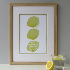 'Gin and Tonic' print from Portsmouth and Southsea Consortium shop Designed by Wink, on Etsy