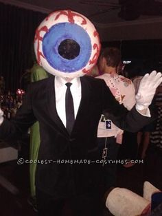 Cool Homemade Giant Eye Costume from The Residents... This website is the Pinterest of costumes