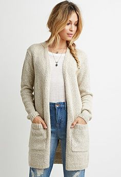 Oversized Chunky Knit Cardigan | Forever 21 - 2000157767