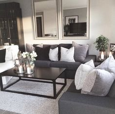giant mirrors add the illusion of doubling the space. 2019 giant mirrors add the illusion of doubling the space. The post giant mirrors add the illusion of doubling the space. 2019 appeared first on Sofa ideas. Living Room Sets, Home Living Room, Apartment Living, Living Room Designs, Living Room Decor, Cozy Apartment, Cozy Living, Bedroom Decor, Living Room Mirrors