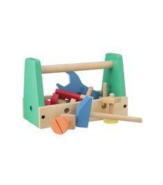 caisse à outils en bois - HEMA