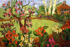 claude simard paintings | Spring time bloom / Claude A. Simard