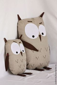 "Adorable, but not cutesy, stuffed owl   ---  ---  ---   ""Экологичные вы наши!"". Handmade."