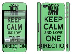 'Keep calm and love One Direction' para iPhone 4