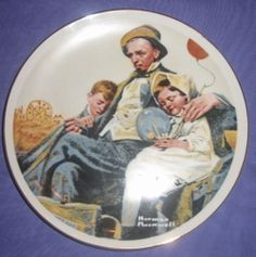 Set of 4 Vintage Norman Rockwell Miniature Plates Imm Japan Collector Porcelain | eBay