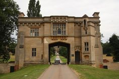 Harlaxton Manor Gatehouse by Richard Croft, via Geograph Lincolnshire England, Small Castles, Halfway House, Hall House, Stone Cottages, English Cottages, Castle House, Carriage House, Old Buildings