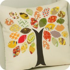 I could make a cushion like this for the nursery.