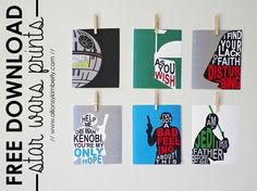 Star Wars Printables An Out of This World Round-Up - Printable Star Wars - Ideas of Printable Star Wars - Star Wars Wall Art Prints. Star Wars Birthday, Star Wars Party, Anniversaire Star Wars, Star Wars Wall Art, Star Wars Bedroom, Star Wars Crafts, Festa Party, Free Printables, Printable Star