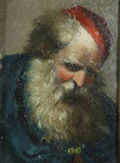 Ritratto di anziano con berretto rosso
