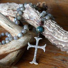 diamond cross long inspirational necklace