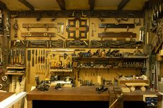 Workshop in garage - If only it could really look like this! This a picture from a non user of his shop!
