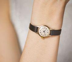 Gold plated woman's watch Glory girl's wristwatch by SovietEra