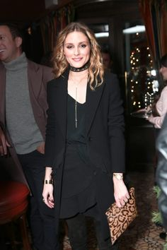 Here's how Olivia rocks the classic black-on-black ensemble: http://thezoereport.com/fashion/celebrity-style/olivia-palermo-necklace-outfit-idea/ via The Zoe Report
