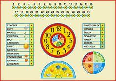 Co ćwiczymy i czego się uczymy, korzystając z takich pomocy jak kalendarz : - pojęcie czasu, - datę, - nazwy dni, miesięcy, pór ...