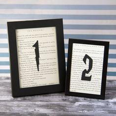 Harry Potter Wedding Wedding Table Numbers Choose by ReddySetArt