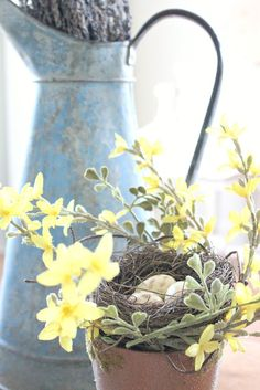pretty spring vignette