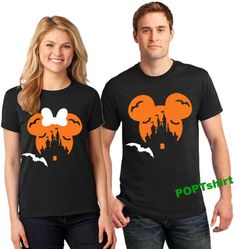 Disney Family Shirts, Matching Family Disney Halloween Shirts, Family Disney Shirts, Matching Disney Couple Shirts, Minnie Mickey Shirts by PopTshirt on Etsy