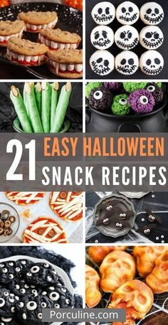 Easy Halloween Snacks, Halloween Desserts, Halloween Food For Party, Halloween Cupcakes, Snack Recipes, Cooking Recipes, Healthy Recipes, Food Website, Quick Snacks