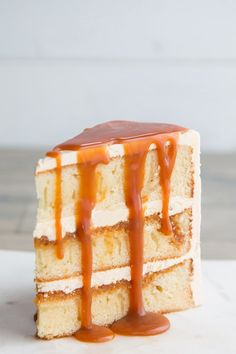 Salted caramel cake with a vanilla sponge base   Kitchen Trials Pitaya, Cupcakes, Cupcake Cakes, Bakery Style Cake, Funfetti Kuchen, Salted Caramel Cake, Vanilla Caramel Cake Recipe, Moist Vanilla Cake, Sponge Cake Recipes