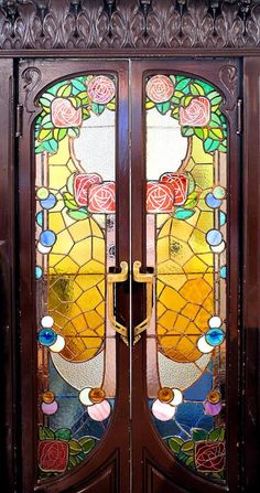 Catalonian Modernisme, stained Glass doors, Barcelona - Spain by Arnim Schulz on Flirck Art Nouveau, Art Deco, Cool Doors, Unique Doors, Sea Glass Art, Mosaic Glass, Fused Glass, Art Et Architecture, Modernisme