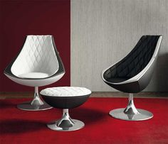 Contemporary armchair / leather / swivel VELA  Formenti