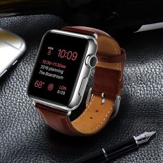 Apple Watch Band Genuine Leather Replacement •Best genuine leather milled with stylish superior craftsmanship, perfect companion for iWatch •Personalize your Apple Watch with this refined strap compared to Apple ones, but at much less price •Each strap were strictly controlled with its size and surface,to guarantee a best and comfortable wearing •The color of product may appear slightly different on individual monitors. We have tried our best to present the true color of the product on the…
