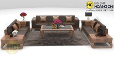 Mẫu sofa gỗ óc chó chữ U mới nhất - SFG2021