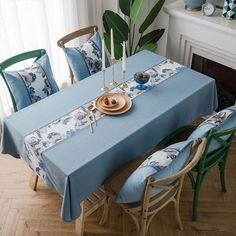 Set 4 Duckegg Azul Cerceta Birds Flower Manteles Individuales Manteles POSAVASOS de mesa de comedor