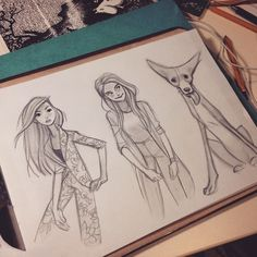 Lookbook #sketching #girls #doggy
