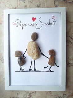 Day gifts for him Stone Image Fathers Day Gift Superhero Dad Steinbild Vatertag Geschenk Superheld Papa Spring Arts And Crafts, Toddler Arts And Crafts, Easter Arts And Crafts, Christmas Crafts For Adults, Diy Crafts For Kids, Dad Crafts, Diy Gifts For Dad, Cool Fathers Day Gifts, Diy Gifts For Friends