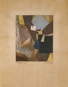 KURT SCHWITTERS Merzzeichnung 218 1921 Collage; textile, fiber, glue, gouache on paper 5.98 x 4.88 inches 15.2 x 12.4 cm