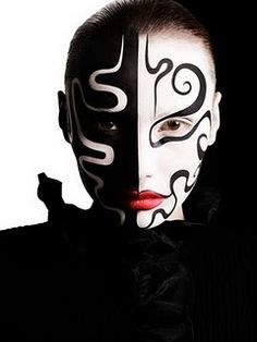 black and white body painting - Google Search
