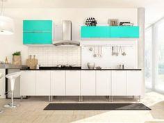 Cozinha Completa Líder Casa Aroma com Balcão - 3 Portas com as melhores condições você encontra no Magazine Anade1979. Confira!