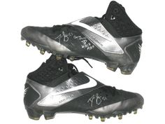 Dan Skuta San Francisco 49ers Game Worn & Signed Nike Cleats (Worn Vs Washington Redskins on Monday Night Football)