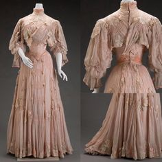 For this week's 'Frock Friday', I found an ethereal pink day dress in silk and silk velvet, dating from around 1906. It was made by the American designer Girolamo Giuseffi (1864-1934). Image courtesy of the Indianapolis Museum of Art.