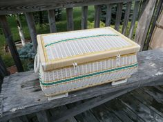 Hey, I found this really awesome Etsy listing at https://www.etsy.com/listing/201514737/large-vintage-sewing-basket-bacon