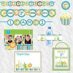 Sweet Safari Package boy  Birthday Package  by JRCreativeDesigns, $39.99