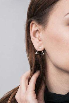 Double Triangle 1 by Magdalena Paszkiewicz / silver